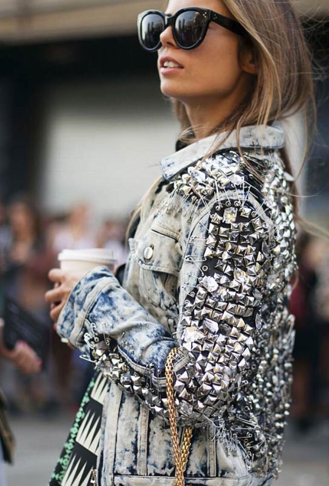 pins and studs and acid and denim