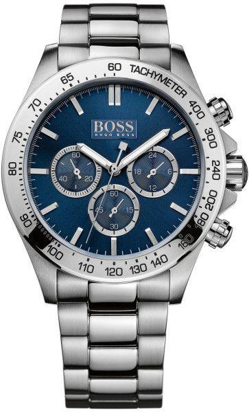 Boss Men's Chronograph Stainless Steel $453 http://www.lyst.com/accessories/hugo-boss-mens-chronograph-stainless-steel-bracelet-watch-44mm-1/