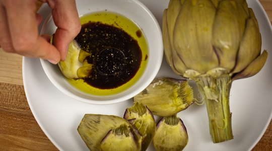 Artichokes with Balsamic