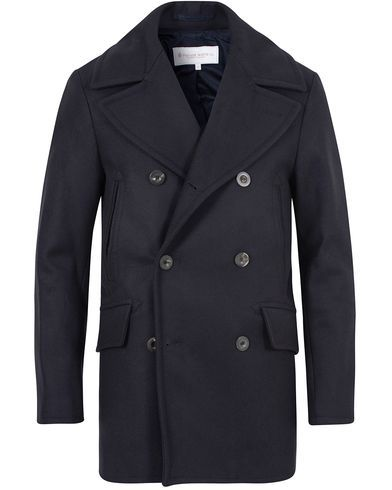 Private White V.C. Manchester Peacoat Navy i gruppen Design B / Kläder / Jackor / Skepparkavajer hos Care of Carl (13088811r)