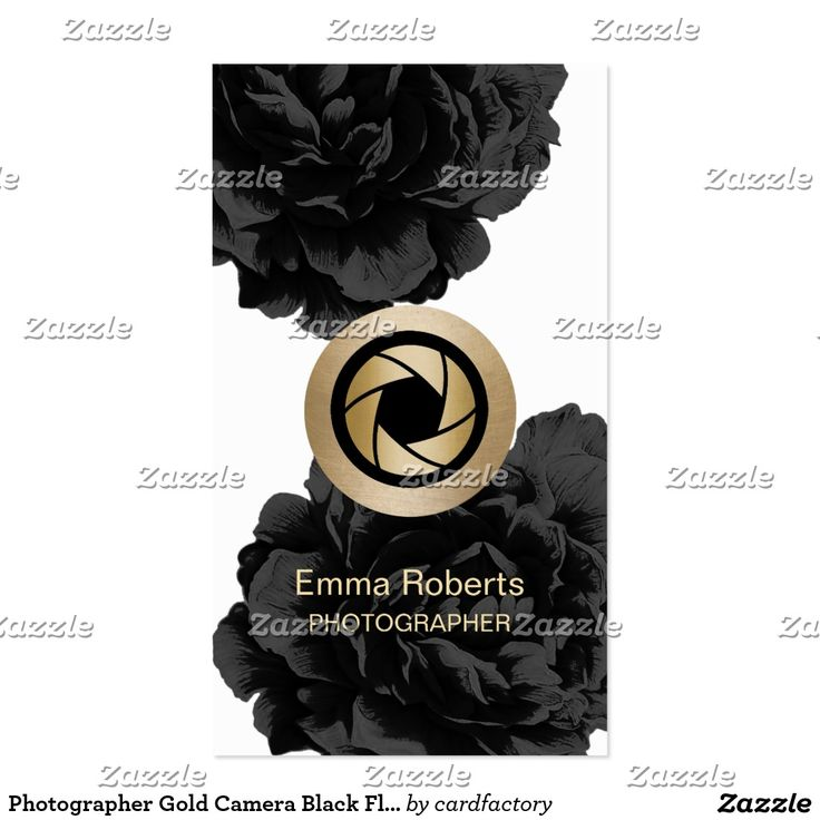 57 best photography business cards images on pinterest photography photographer gold camera black floral photography business card reheart Choice Image