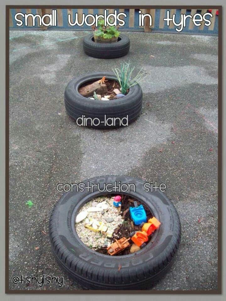 I think this a fun idea and open-ended materials could be placed near these so children could change them when they wanted.