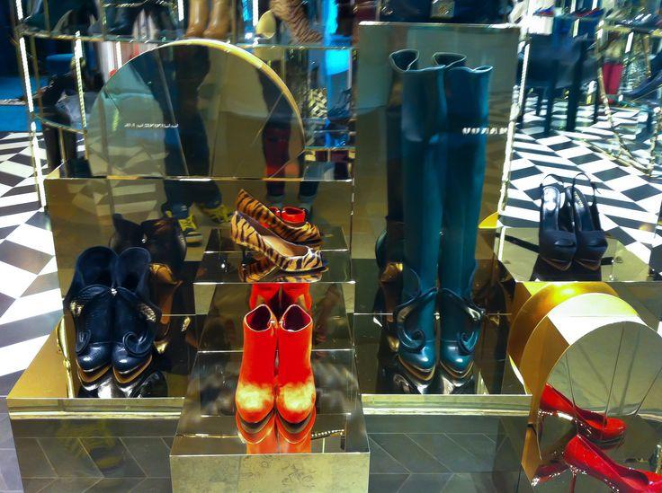 Harvey Nichols shoes at Pacific Place Hong Kong.