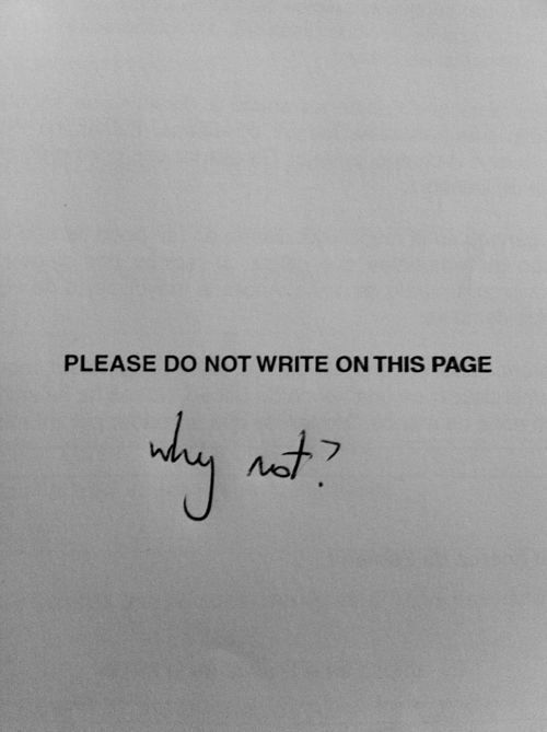 """.This was so me. When I was a teen and saw a page like this, I would write, """"Okay""""."""