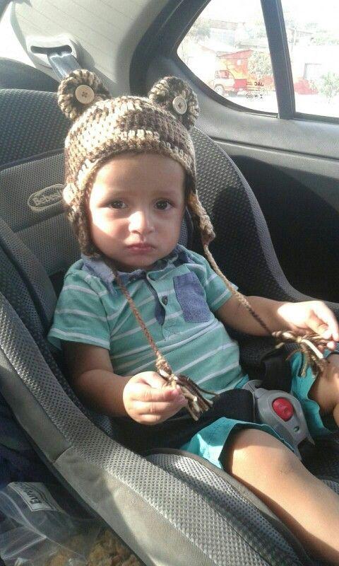 Gorro orejitas para bebe. Crochet.