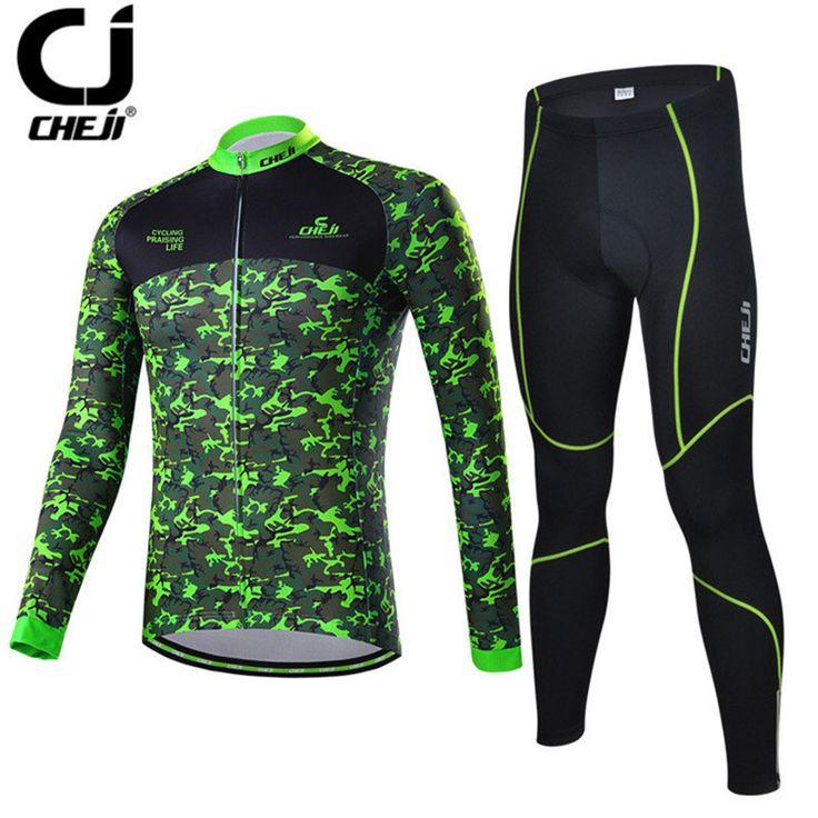 Cheji Men Long Sleeve mtb Cycling Jersey Winter Warm Bike Jersey Bicycle Sportswear Cool Cycling Clothing Ropa invierno Ciclismo #Affiliate
