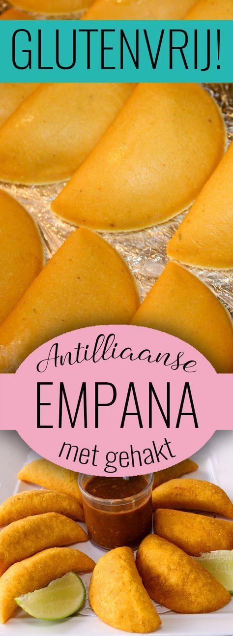 glutenvrije Antilliaanse pasteitjes: EMPANA DI KARNI. Pasteitjes gemaakt van maïsmeel en gevuld met gehakt. Gegarandeerd glutenvrij! Maak ze nu met ons recept