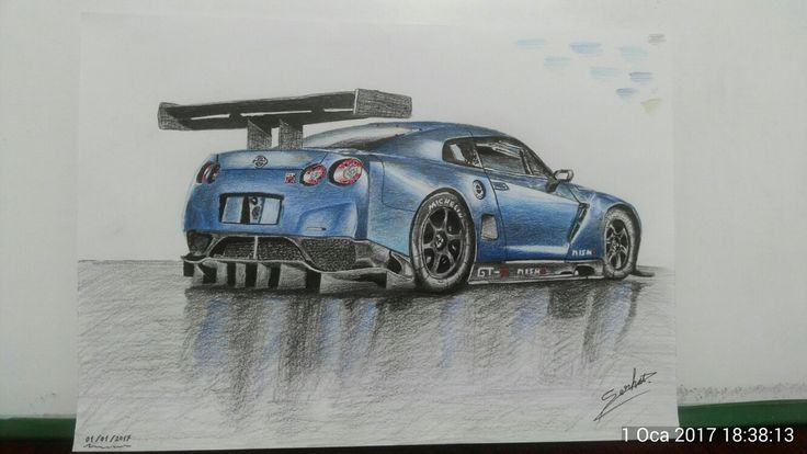 Nissan GT-R NİSMO drawing