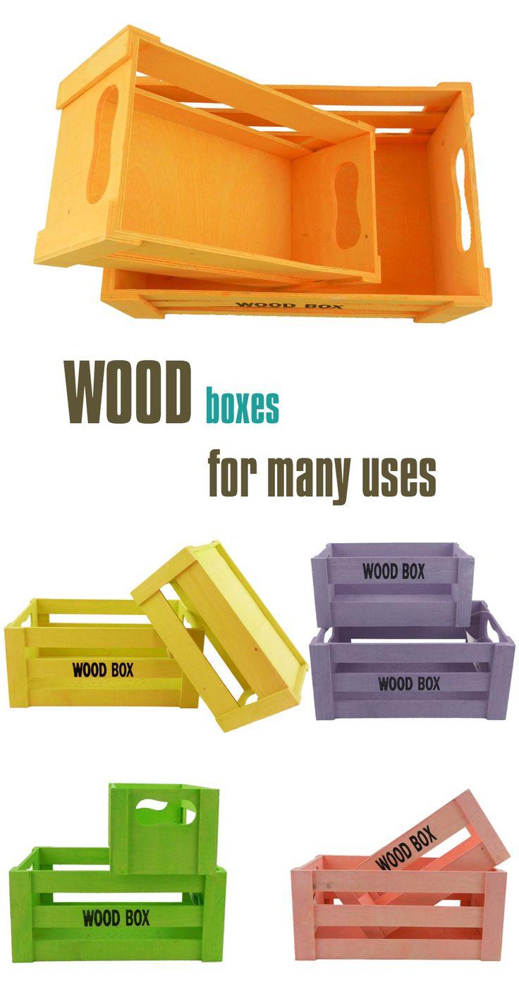 Τα ξύλινα κουτιά, που μοιάζουν περισσότερο με μικρά ξύλινα καφάσια, όσο χρήσιμα φαίνονται για διακοσμητική χρήση, άλλο τόσο χρήσιμα αποδεικνύονται σε καθημερινές ανάγκες όπως τακτοποίηση, αποθήκευση, μεταφορά αγαθών. #homedeco #homedecorating