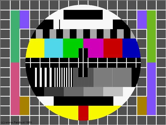 De televisie in het interieur