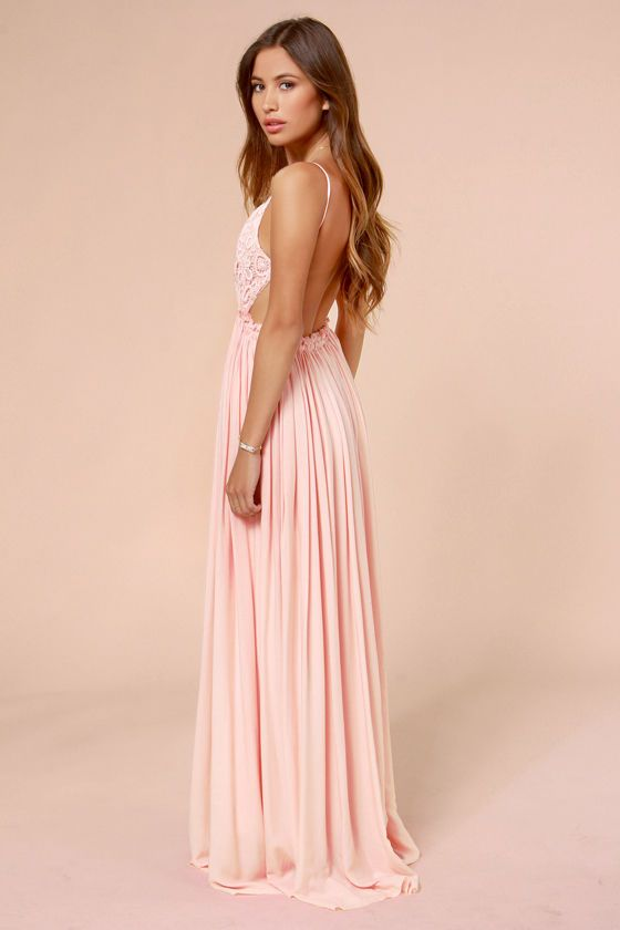 Blooming Prairie Crocheted Pink Maxi Dress at LuLus.com! love it in pink and the mint too.