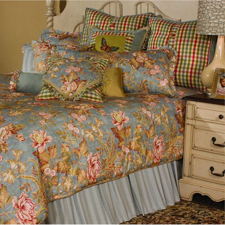 Tricia Comforter Set by Michael Amini  Soothing colors with soft natural  colors mix with a stylish checked pattern  The Bedding set pairs easily  with your. 63 best bedding images on Pinterest   Comforter sets  3 4 beds and