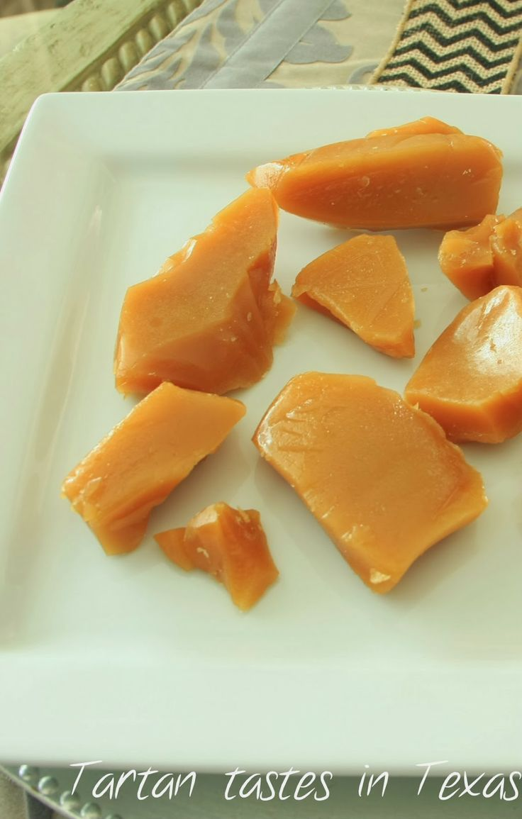 Tartan Tastes in Texas: Scottish recipes - Scottish toffee.  Looks delicious!