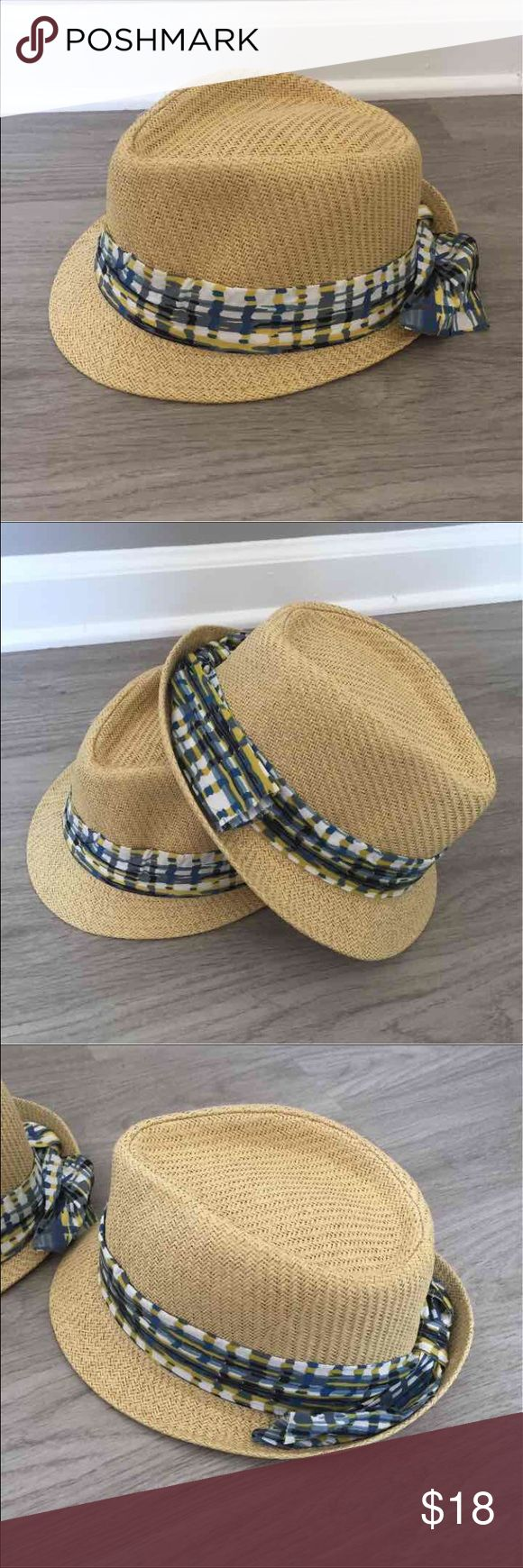 2 Fedora Beach Hats NWOT Get 2 fedora straw beach hats *never worn with plaid sash around both. Price includes both hats! Tags: free people, hats, beach wear, jcrew, BP, Tobi, Accessories Hats