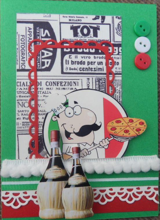 scrapbook card Italy - Italië kaart