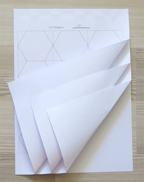 Tips for cutting hexagon templates plus a great template for Hexagon templates for quilting free