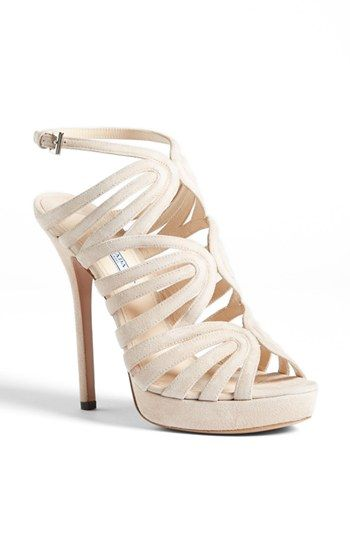 Prada Caged Platform Sandal available at #Nordstrom
