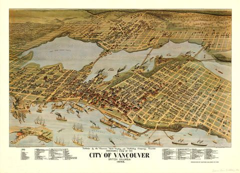 30 best vancouver printers and the book trade images on pinterest panoramic view of the city of vancouver vancouver world printing and publishing company 1898 malvernweather Choice Image