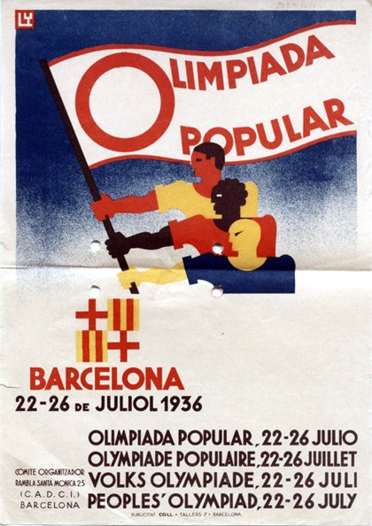 Opposed to the games held in Fascist Berlin, sadly unable to take place due to the outbreak of the Spanish Civil War.