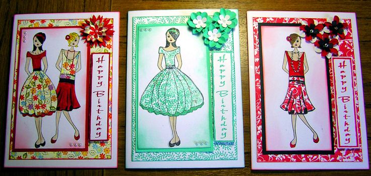 "3 Mini ""Annie"" cards"