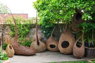 Julia Clarke's willow sculptures