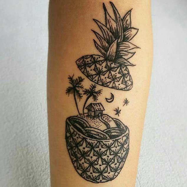 Creative Pineapple Tattoo
