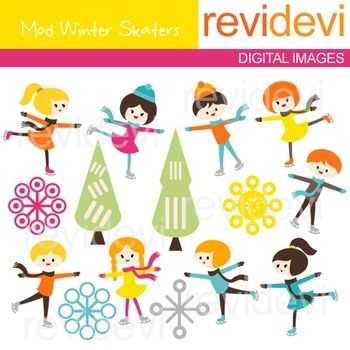 Clip art Kids Ice Skating (mod winter skaters) boys, girls, ice skaters clipart.Clipart set for teachers and educators. Great resource for any school and classroom projects such as for creating bulletin board, printable, worksheet, classroom decor, craft materials, activities and games, and for more educational and fun projects.You will receive:- Each clipart saved separately in PNG format, 300 dpi with transparent background.- Each clipart saved separately in JPG format, 300 dpi with white…