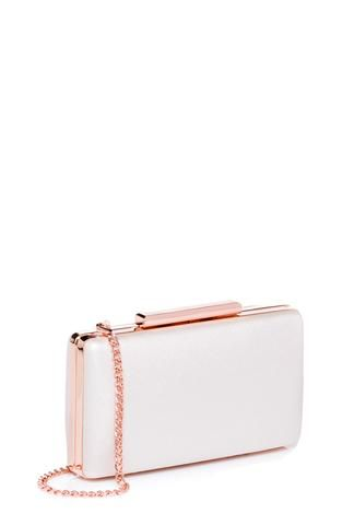 Carissa Thick Metal Bar Clutch
