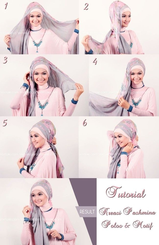 How to wear pashmina Hijab!