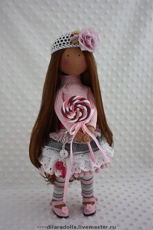 Коллекционные куклы ручной работы. Ярмарка Мастеров - ручная работа текстильная кукла CENDI. Handmade.