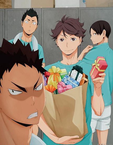 No no don't be mad Iwa-chan >.< #haikyuu #aobajohsai