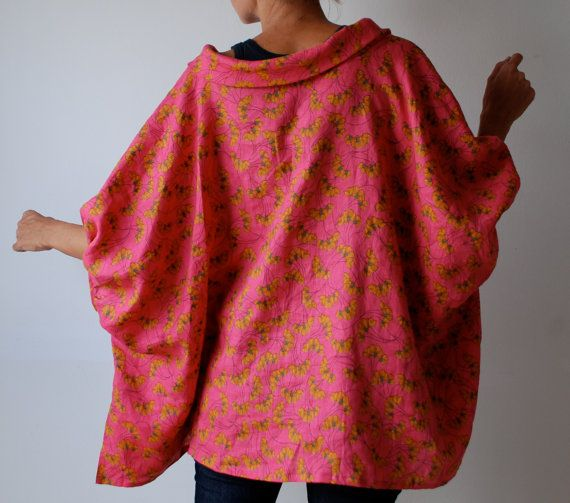 RESERVED FOR ANGELIQUE Pink loose fit linen smock by MuguetMilan