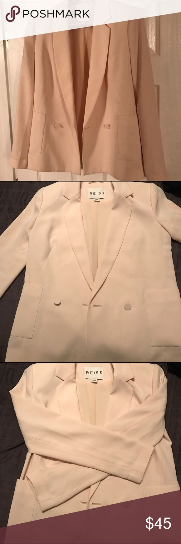 REISS Blazer (womens) Reiss cream color blazer. Size xs. Small dirt mark on back. Can be easily dry cleaned. Reiss Jackets & Coats Blazers