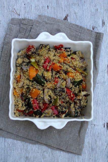 Quinoasalat med grillede grønnsaker - Mat på bordet