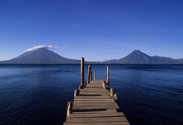 Lake Atitlan... Panajachel Guatemala-- proud to say I have a picture on this same dock on atitlan