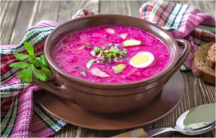 Sopa fría de remolacha, súper fácil de hacer y llena de vitaminas y antioxidantes. Ideal como primer plato en verano o para una cena ligera. La remolacha