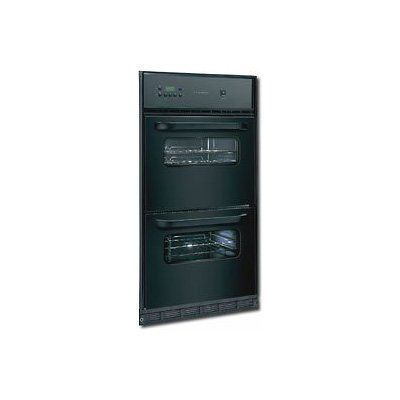 frigidaire black single gas wall oven with builtin
