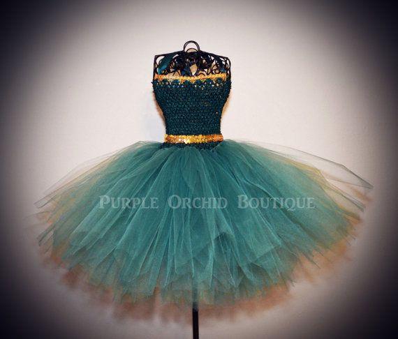 Merida Inspired Brave Tutu Dress by PurpleOrchidBoutique on Etsy