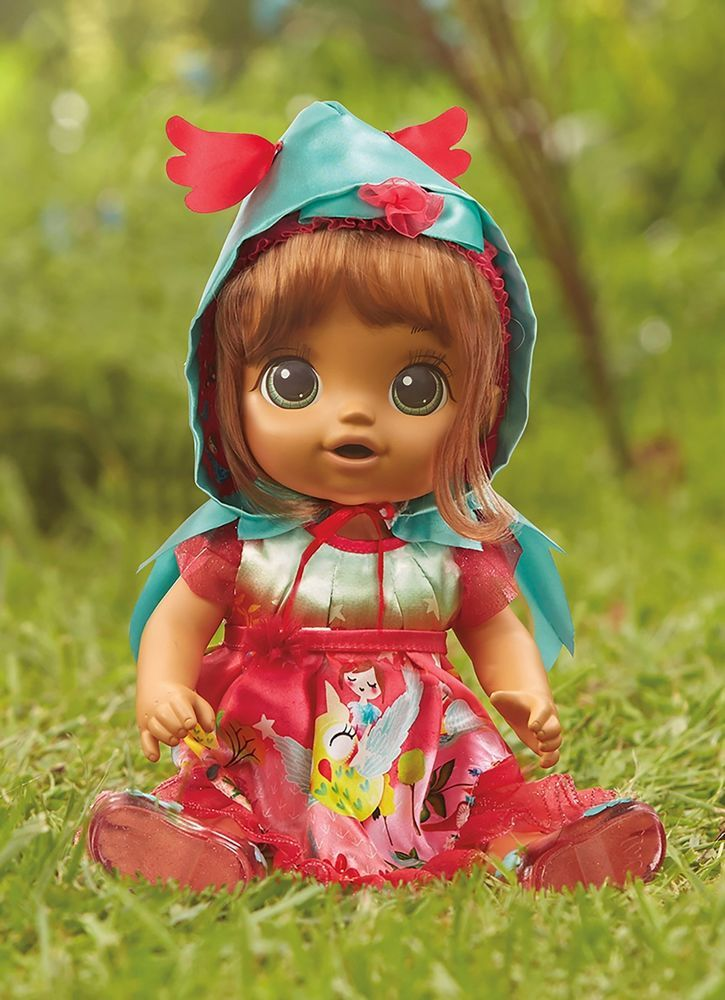 Doll Baby alive once upon a baby forest tales forest luna brown straight hair