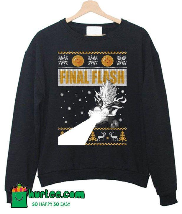 Vegeta Final Flash Christmas Sweatshirt Hurtee Sweatshirt