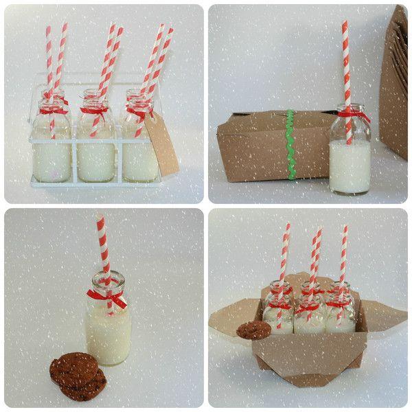 Mini Milk Bottles - Christmas Eve ideas