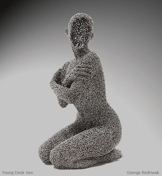 Chain Sculptures by Young Deok Seo motion effects by George RedHawk