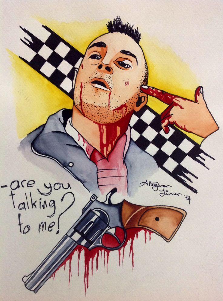 Taxi Driver, watercolor