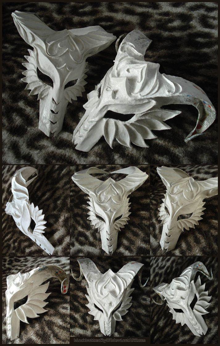 White Plaster Masks by *BlackButterfly007 on deviantART