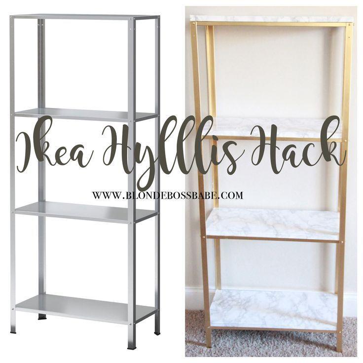 Der einfachste DIY-Hack, um Ihr Ikea Hyllis-Regal in Höhe von $ 14,99 in Marmor und