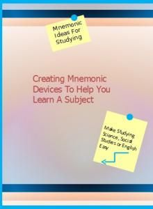Memory & Study Skills: Mnemonic Devices