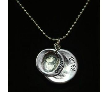 Double Descending Fingerprint Pendants