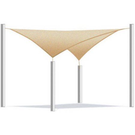 Aleko Square Waterproof Sun Shade Sail Canopy Tent Replacement, Choose Your Size And Color - Walmart.com