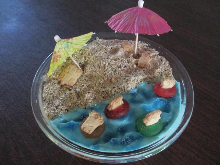 Memorial Day weekend summer kickoff.  Sand Pudding Dessert