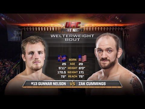 Fight Night Glasgow Free Fight: Gunnar Nelson vs Zak Cummings